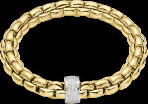 Armband Fope Flex'it Eka aus 750 Gelbgold mit mehreren Brillanten (0,63 Karat) Größe M