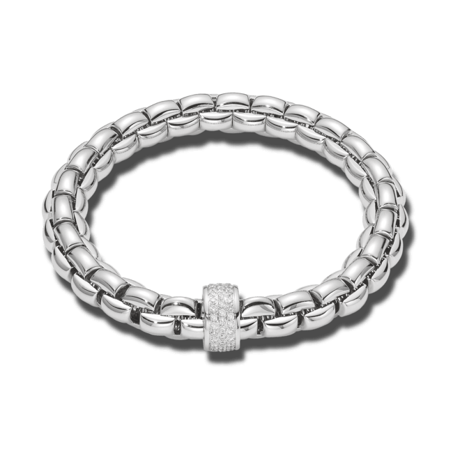 Armband Fope Flex'it Eka aus 750 Weißgold Größe S bei Brogle