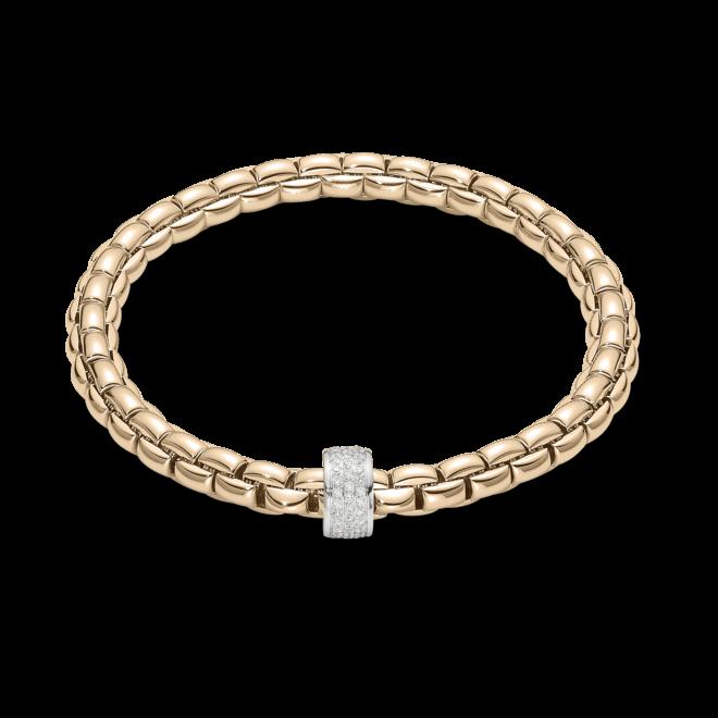 Armband Fope Flex'it Eka aus 750 Roségold mit mehreren Brillanten (0,53 Karat) Größe L bei Brogle