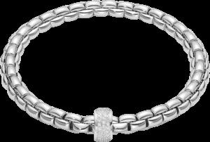 Armband Fope Flex'it Eka aus 750 Weißgold mit mehreren Brillanten (0,53 Karat) Größe M