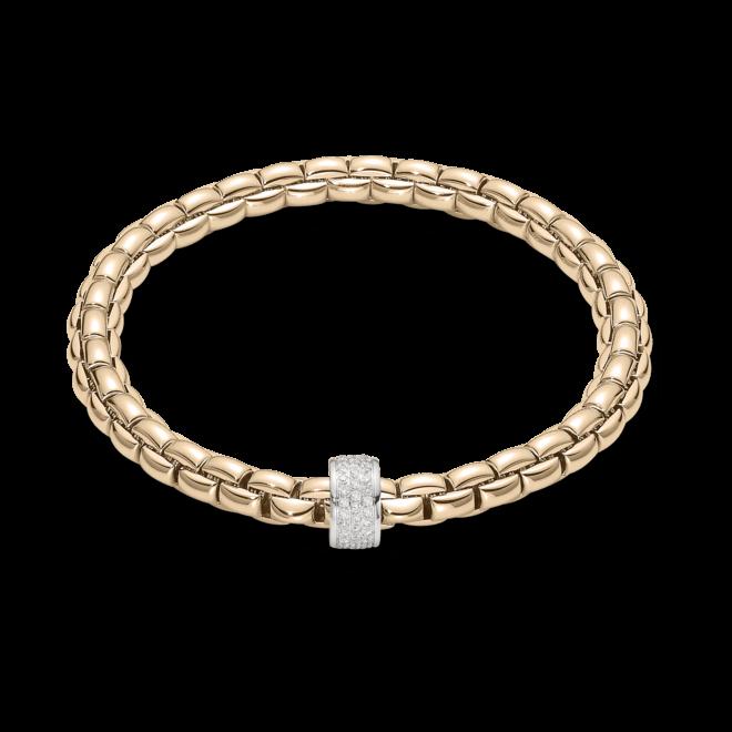 Armband Fope Flex'it Eka aus 750 Roségold mit mehreren Brillanten (0,53 Karat) Größe XS