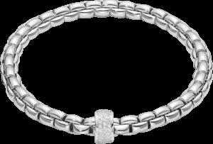 Armband Fope Flex'it Eka aus 750 Weißgold mit mehreren Brillanten (0,53 Karat) Größe XS