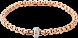 Armband Fope Flex'it Eka aus 750 Roségold und 750 Weißgold mit mehreren Brillanten (0,15 Karat) Größe M