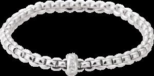 Armband Fope Flex'it Eka aus 750 Weißgold mit mehreren Brillanten (0,15 Karat) Größe S