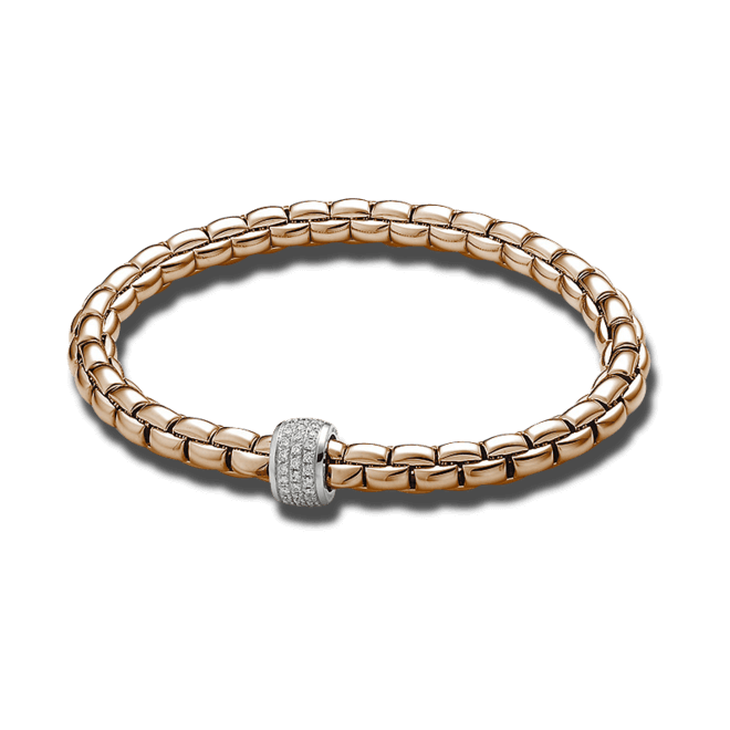 Armband Fope Flex'it Eka aus 750 Roségold und 750 Weißgold mit mehreren Brillanten (0,37 Karat) Größe M bei Brogle