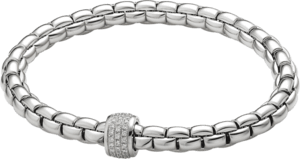 Armband Fope Flex'it Eka aus 750 Weißgold mit mehreren Brillanten (0,37 Karat) Größe S