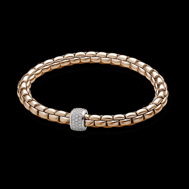 Armband Fope Flex'it Eka aus 750 Roségold und 750 Weißgold mit mehreren Brillanten (0,37 Karat) Größe XS