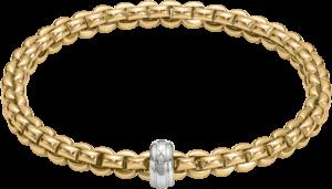 Armband Fope Flex'it Eka aus 750 Gelbgold und 750 Weißgold Größe M