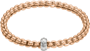 Armband Fope Flex'it Eka aus 750 Roségold und 750 Weißgold Größe M