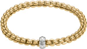 Armband Fope Flex'it Eka aus 750 Gelbgold und 750 Weißgold Größe XS
