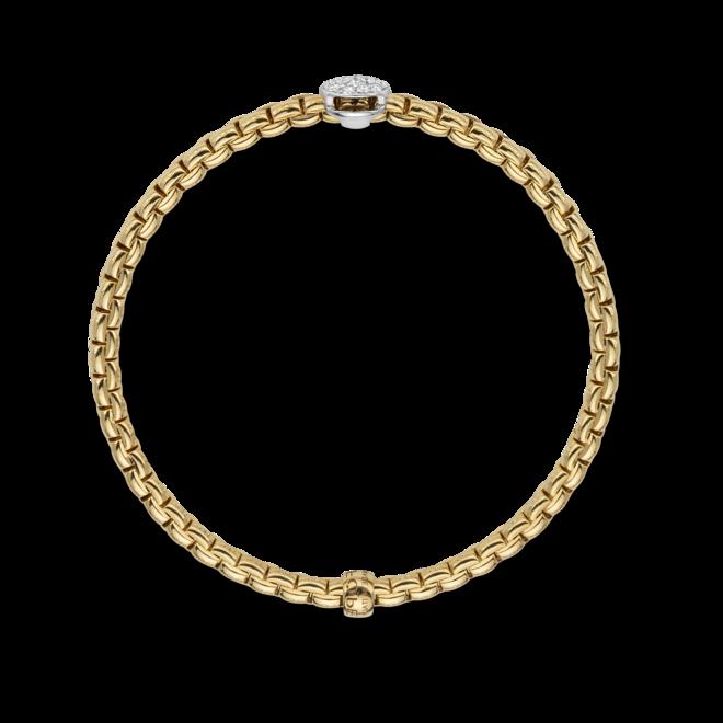 Armband Fope Flex'it Eka aus 750 Gelbgold und 750 Weißgold mit mehreren Brillanten (0,22 Karat) Größe XS bei Brogle