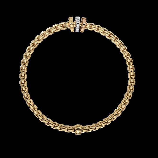 Armband Fope Flex'it Eka aus 750 Gelbgold, 750 Weißgold und 750 Roségold Größe S