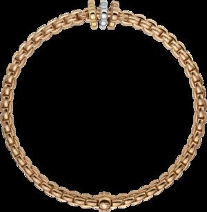 Armband Fope Flex'it Eka aus 750 Roségold, 750 Gelbgold und 750 Weißgold Größe S