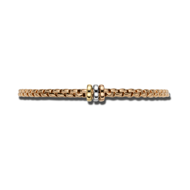 Armband Fope Flex'it Eka aus 750 Roségold, 750 Gelbgold und 750 Weißgold Größe S bei Brogle