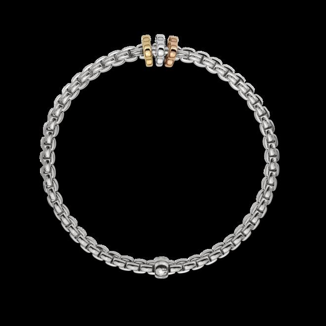 Armband Fope Flex'it Eka aus 750 Weißgold, 750 Gelbgold und 750 Roségold Größe S
