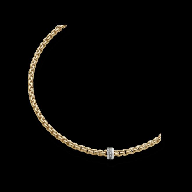 Halskette Fope Flex'it Eka aus 750 Gelbgold mit mehreren Brillanten (0,2 Karat) bei Brogle