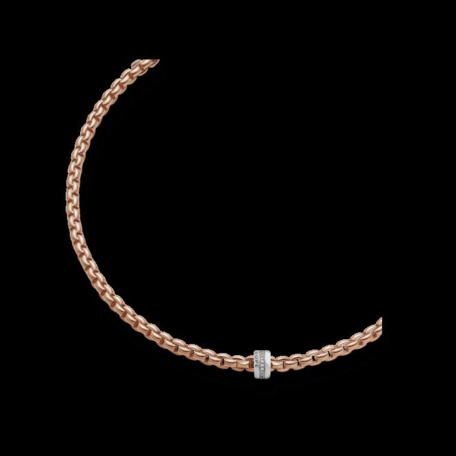Halskette Fope Flex'it Eka aus 750 Roségold mit mehreren Brillanten (0,2 Karat)