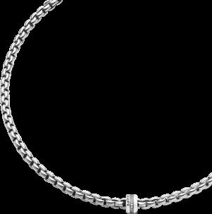 Halskette Fope Flex'it Eka aus 750 Weißgold mit mehreren Brillanten (0,2 Karat)