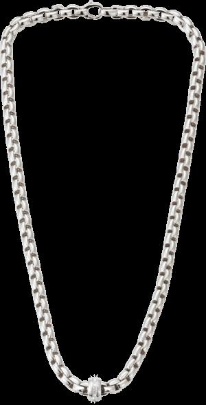 Halskette Fope Flex'it Eka aus 750 Weißgold mit mehreren Diamanten (0,18 Karat)
