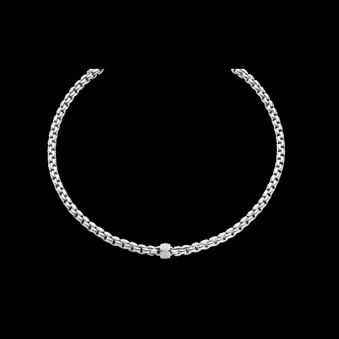 Halskette Fope Flex'it Eka aus 750 Weißgold mit mehreren Brillanten (0,53 Karat)