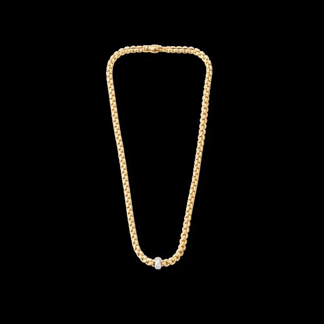 Halskette Fope Flex'it Eka aus 750 Gelbgold und 750 Weißgold mit mehreren Brillanten (0,15 Karat) bei Brogle