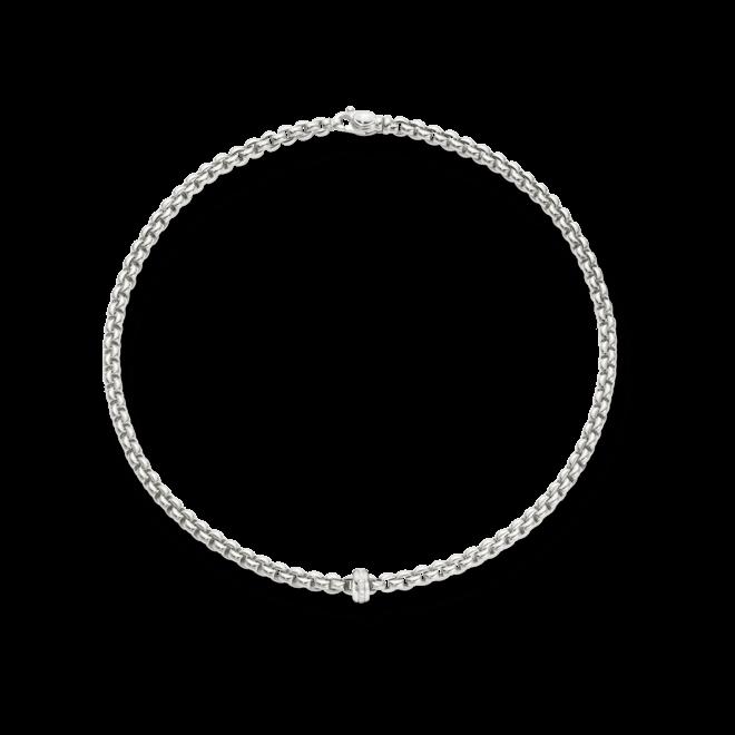 Halskette Fope Flex'it Eka aus 750 Weißgold mit mehreren Brillanten (0,15 Karat)