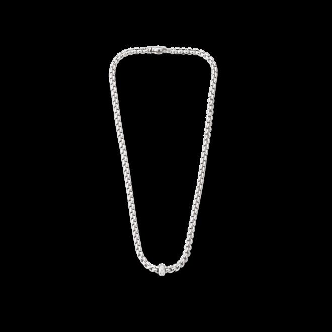 Halskette Fope Flex'it Eka aus 750 Weißgold mit mehreren Brillanten (0,15 Karat) bei Brogle
