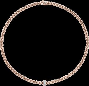 Halskette Fope Flex'it Eka aus 750 Roségold mit mehreren Brillanten (0,37 Karat)