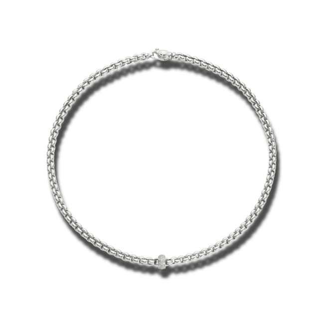 Halskette Fope Flex'it Eka aus 750 Weißgold mit mehreren Brillanten (0,37 Karat) bei Brogle