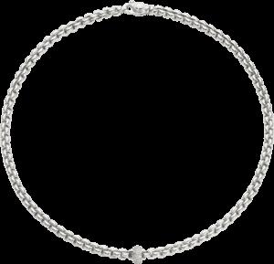 Halskette Fope Flex'it Eka aus 750 Weißgold mit mehreren Brillanten (0,37 Karat)