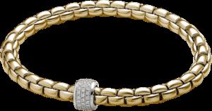 Armband Fope Flex'it Olly aus 750 Gelbgold mit mehreren Brillanten (0,37 Karat) Größe M