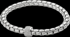 Armband Fope Flex'it Olly aus 750 Weißgold mit mehreren Brillanten (0,37 Karat) Größe M