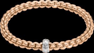 Armband Fope Flex'it Olly aus 750 Roségold und 750 Weißgold Größe M