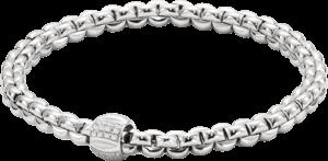 Armband Fope Flex'it Olly aus 750 Weißgold mit mehreren Brillanten (0,24 Karat) Größe M
