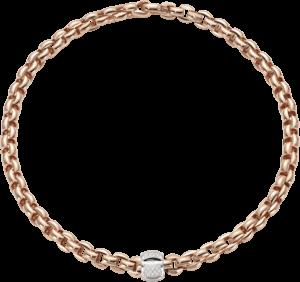 Halskette Fope Flex'it Eka aus 750 Roségold mit mehreren Brillanten (0,5 Karat)