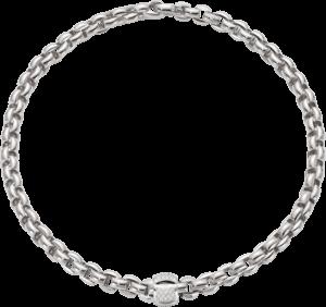 Halskette Fope Flex'it Eka aus 750 Weißgold mit mehreren Brillanten (0,5 Karat)