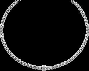 Halskette Fope Flex'it Eka aus 750 Weißgold mit mehreren Brillanten (0,63 Karat)
