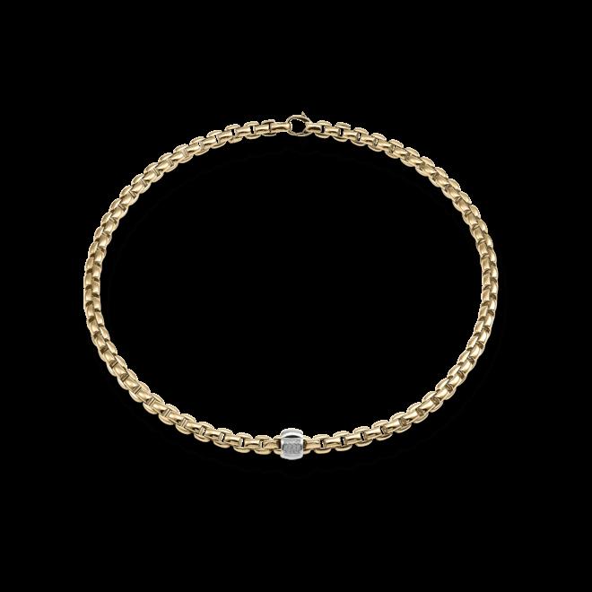 Halskette Fope Flex'it Eka aus 750 Roségold mit mehreren Brillanten (0,24 Karat)