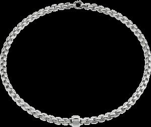 Halskette Fope Flex'it Eka aus 750 Weißgold mit mehreren Brillanten (0,24 Karat)