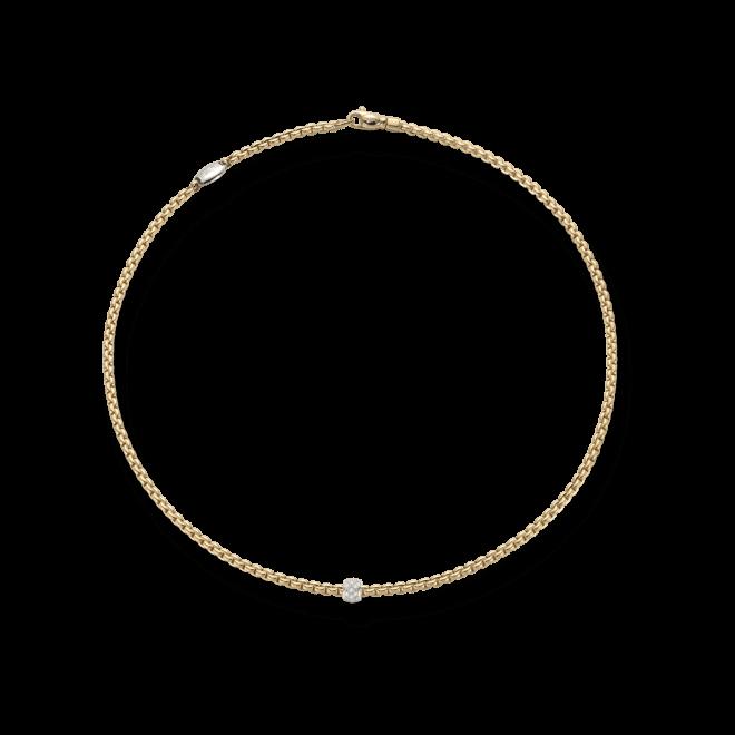 Halskette Fope Eka aus 750 Gelbgold mit mehreren Brillanten (0,19 Karat) bei Brogle