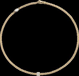 Halskette Fope Eka aus 750 Gelbgold mit mehreren Brillanten (0,19 Karat)