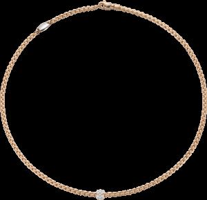 Halskette Fope Eka aus 750 Roségold mit mehreren Brillanten (0,19 Karat)