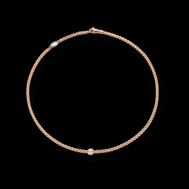 Halskette Fope Eka aus 750 Roségold und 750 Weißgold mit mehreren Brillanten (0,19 Karat) bei Brogle