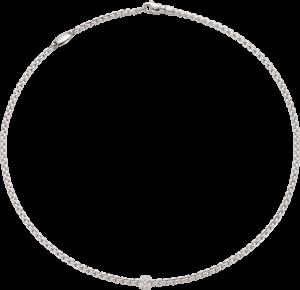 Halskette Fope Eka aus 750 Weißgold mit mehreren Brillanten (0,19 Karat)