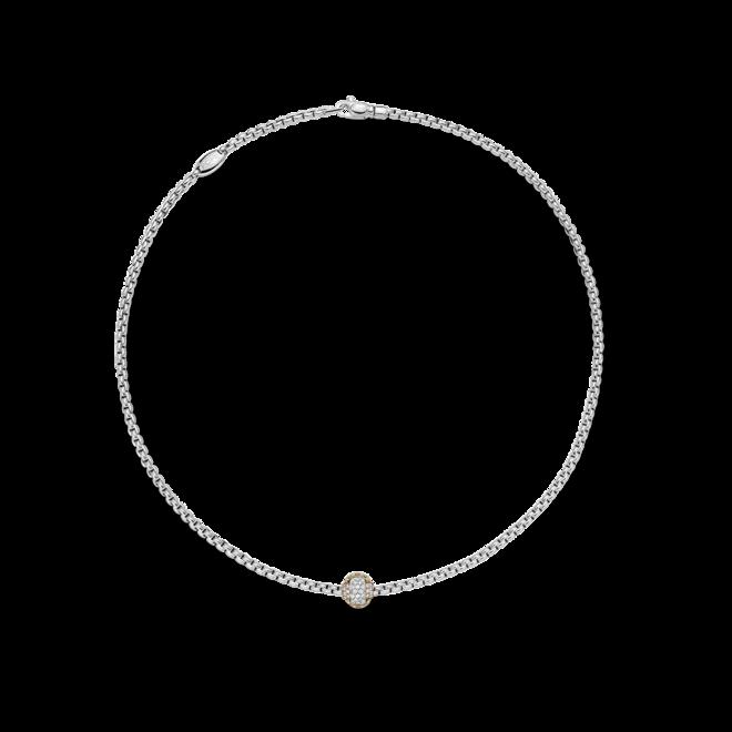 Halskette Fope Eka aus 750 Weißgold und 750 Roségold mit mehreren Brillanten (0,69 Karat) bei Brogle
