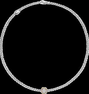 Halskette Fope Eka aus 750 Weißgold und 750 Roségold mit mehreren Brillanten (0,69 Karat)