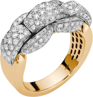 Ring Fope Eka Mialuce aus 750 Gelbgold mit mehreren Brillanten (1,15 Karat)