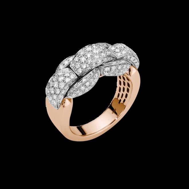 Ring Fope Eka Mialuce aus 750 Roségold mit mehreren Brillanten (1,15 Karat)
