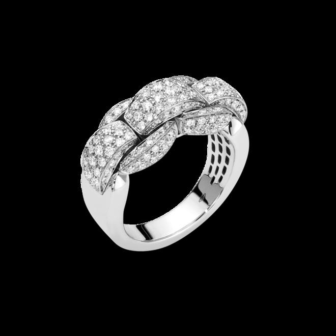 Ring Fope Eka Mialuce aus 750 Weißgold mit mehreren Brillanten (1,15 Karat)