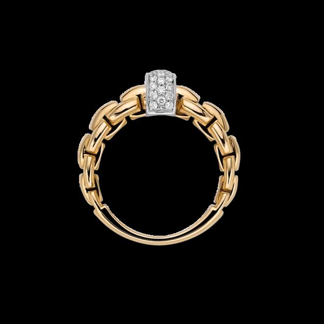 Ring Fope Eka aus 750 Gelbgold und 750 Weißgold mit mehreren Brillanten (0,22 Karat) bei Brogle